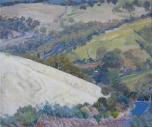 2012-landscapes-outdoorpainting-PhilippaRobert-AdelaideSouthAustralia-One-Tree-Hill-Road