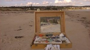 fresh air Fridays-beach painting-Philippa Robert-Adelaide South Australia