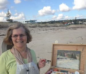 transition to outdoors-art tuition-Philippa Robert Adelaide South Australia-outdoor painting