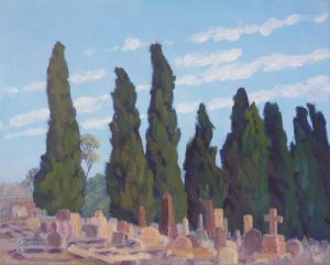 2014-landscapes-Philippa Robert-Adelaide South Australia-Cypresses Mitcham