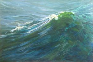 breaking point-seascapes-wave paintings-Adelaide South Australia-Philippa Robert-Building Swell