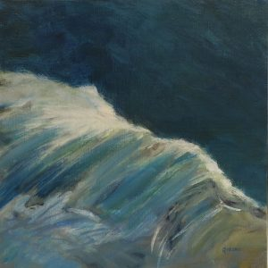2017-x-seascapes-wave painting-Philippa Robert-Adelaide South Australia-Breaking bow wave