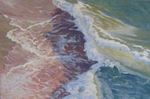 February wave painting-large seascapes-Philippa Robert-Adelaide South Australia-Shoreline clash