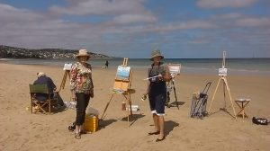 from studio to beach-outdoor painting-Philippa Robert-Adelaide South Australia-Transition to outdoors 2017