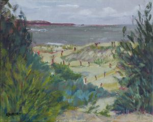 acrylics-2016-1-seascapes-AdelaideSouthAustralia-PhilippaRobert-Wintry day in summer