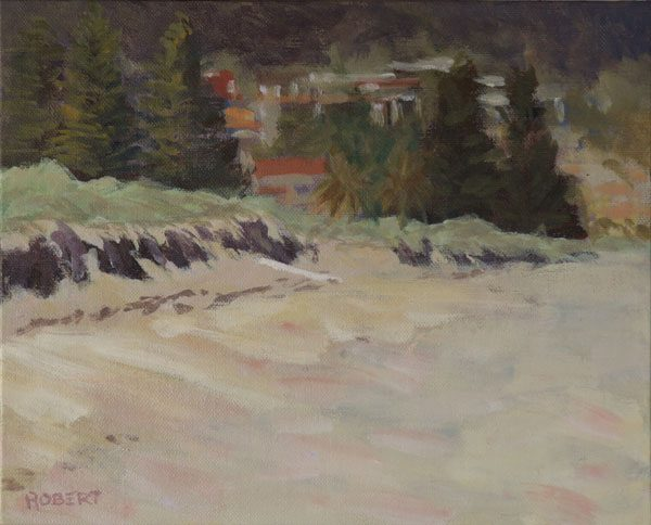 2016-seascapes-outdoor painting-Philippa Robert-South Australia-beach profile 2sml