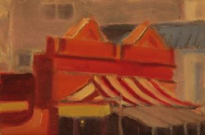 landscapes July-outdoor painting-Philippa Robert-Adelaide South Australia-cafe canopy