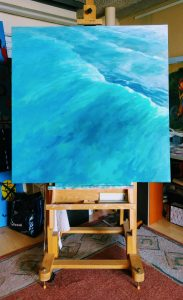 breaking point-seascaapes-wave paintings-Philippa Robert-Adelaide South Australia
