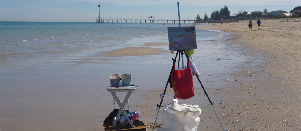 transition to outdoors-art tuition-Philippa Robert-Adelaide South Australia-beachpainting