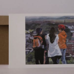Greeting card-On Calton Hill, Edinburgh -PhilippaRobert AdelaideSouthAustralia