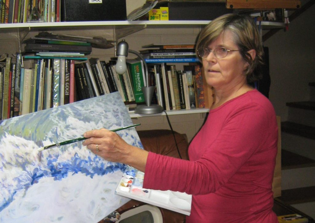 Artist in studio-Philippa Robert-Adelaide South Australia