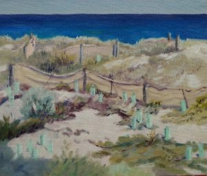 painting supports-linen panels-seascapes-2017-27-outdoor painting-seascapes-Philippa Robert-Adelaide South Australia-beside the dunes v2