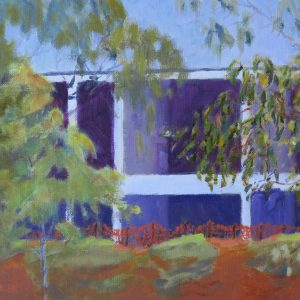 landscapes-outdoor painting-mixed media- Walkerville contrasts-Philippa Robert-Adelaide South Australia