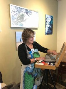 cafe painting-outdoor painting indoors-Philippa Robert-Adelaide South Australia