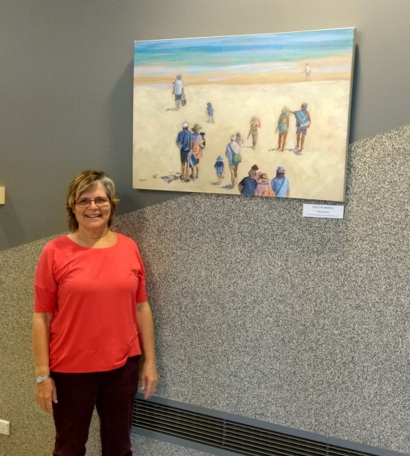 Over the sandhill-with artist at HBCC-Philippa Robert-Adelaide South Australia-Sept 2017