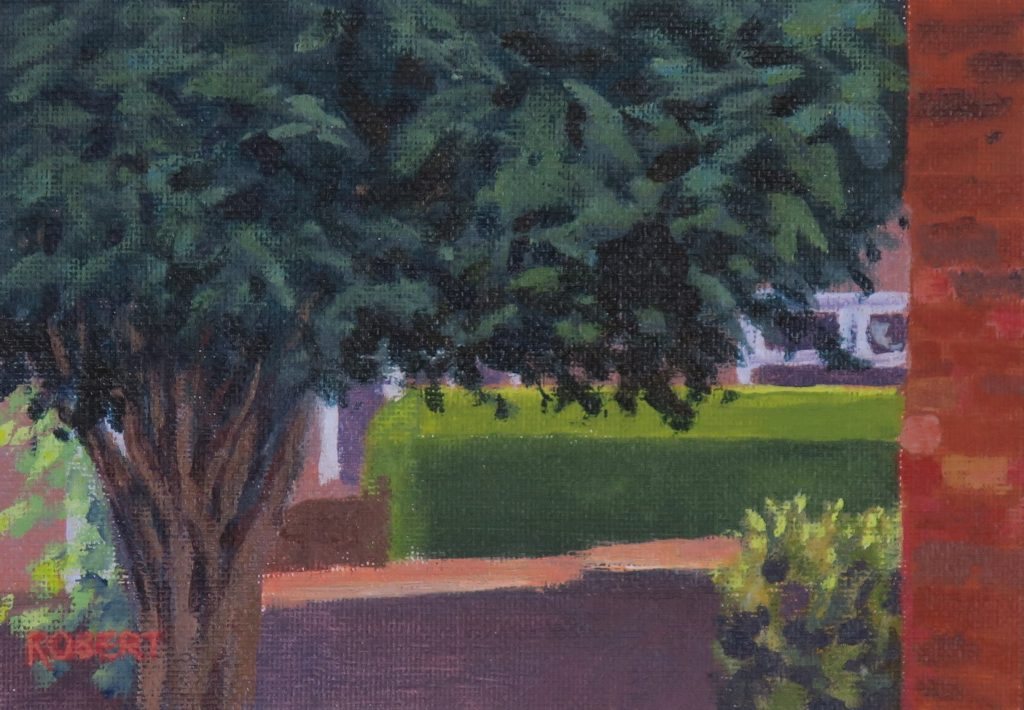 Harton Hedge-outdoor painting-streetscapes-Philippa Robert-Adelaide South Australia