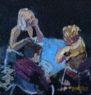 cafe paintings-Philippa Robert-Adelaide South Australia-in the spotlight-2018