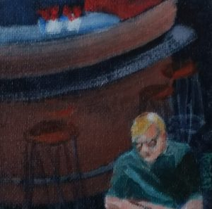 even more cafe paintings-Philippa Robert-Adelaide South Australia-2018-the reader