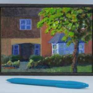 outdoor painting-landscapes-Philippa Robert-Adelaide South Australia-Evening in Warwickshire-2017-with pen