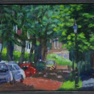 westoe village framed Philippa Robert - outdoor painting 2017