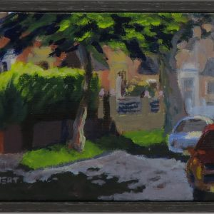 Harton village framed-outdoor painting-Philippa Robert-Adelaide South Australia