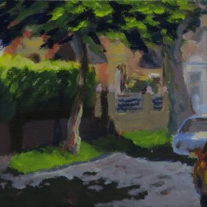 Harton village-outdoor painting-Philippa Robert-Adelaide South Australia