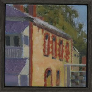 O'Connell Street North Adelaide-outdoor painting-Philippa Robert-Adelaide South Australia-2019 framed