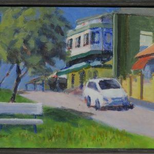 Semaphore street framed-outdoor painting-Philippa Robert-Adelaide South Australia