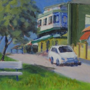 Semaphore street-outdoor painting-Philippa Robert-Adelaide South Australia